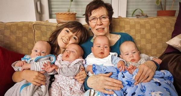 Der Alltag Der ältesten Vierlingsmutter Der Welt News From