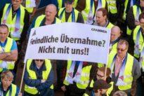 Grammer-Mitarbeiter protestieren gegen bosnischen Investor
