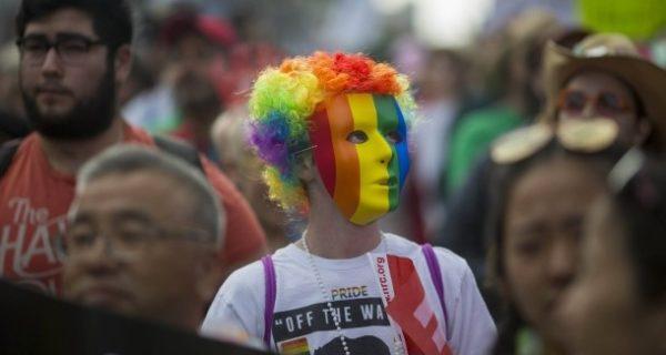 Regenbogen-Demo vor dem Weißen Haus