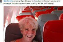 Britin auf Reisen: Eine Boeing 737 ganz für sich allein