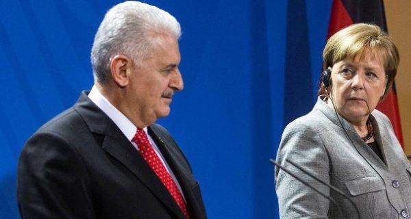 Treffen mit Merkel in Berlin: Yildirim nennt keinen Termin für Prozessbeginn im Fall Yücel
