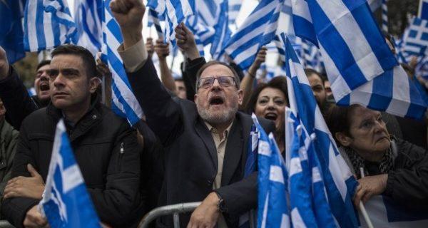 Massenprotest in Athen: Hunderttausende demonstrieren für die Rettung des Griechentums