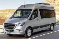 Probefahrt Mercedes Sprinter: Kisten, Kästen, Campingstühle