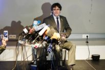 Pressekonferenz in Berlin: Puigdemont im Kieztreff