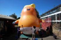 Während Präsidenten-Besuch: Riesiges aufblasbares Trump-Baby darf über London schweben