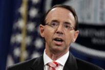 Beschuldigter Rosenstein: Senat will mögliches Komplott gegen Trump untersuchen