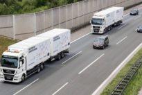 Platooning-Test auf der A9: Wenn Lastwagen digital vernetzt werden