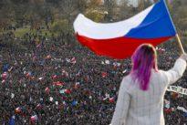 Zum Jahrestag der Revolution: Protest in Prag