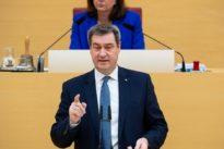 Regierungserklärung: Söder droht mit Ausgangssperre